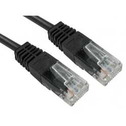 Spire Moulded CAT5e Patch Cable, 20 Metres, Full Copper, Black