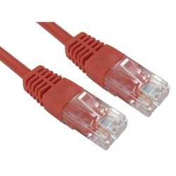 Spire Moulded CAT5e Patch Cable, 5 Metres, Full Copper, Red