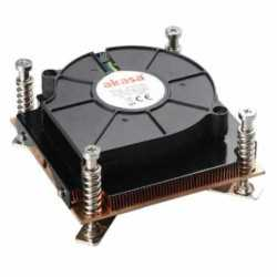 Akasa AK-CCE-7107BP Heatsink and Fan, Sockets 775 & 115X,  Low Profile, PWM Fan