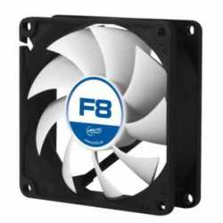 Arctic F8 8cm Case Fan, Black & White, 9 Blades, Fluid Dynamic, 6 Year Warranty