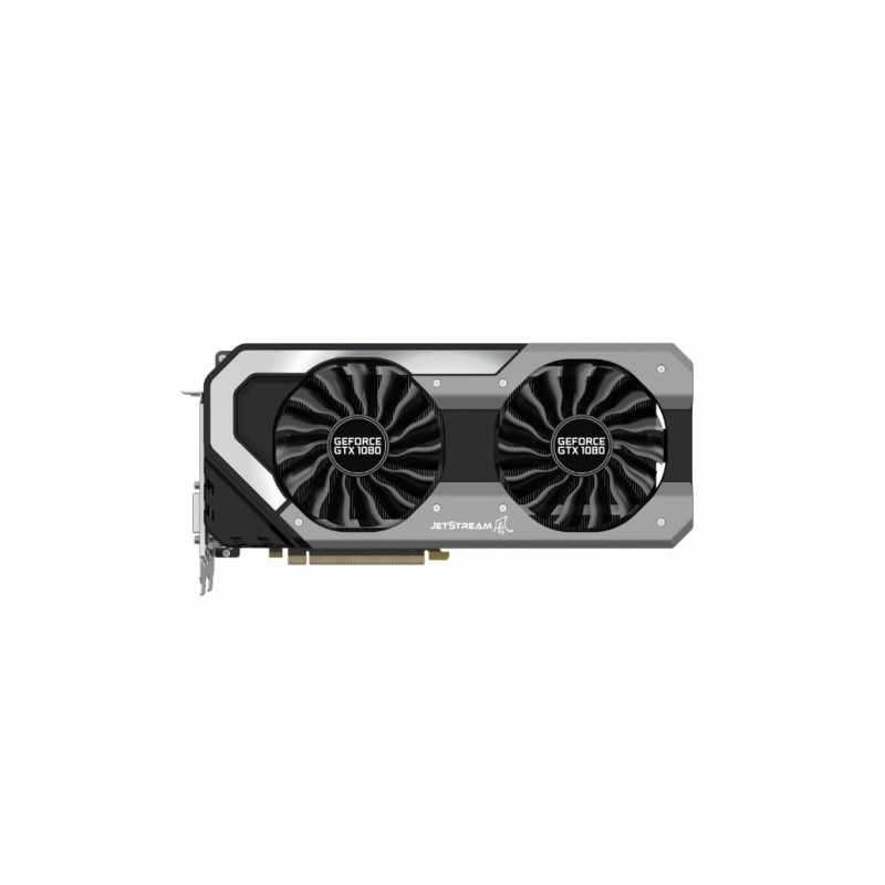 Palit GTX1080 Super Jetstream, 8GB DDR5X, PCIe3, DVI, HDMI, 3 DP, 1847MHz,  RGB Lighting, 0dB