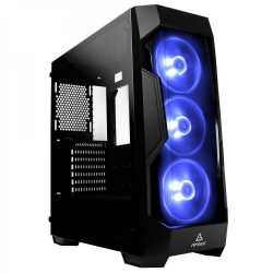 Antec DF-500 RGB Gaming Case with Front & Side Windows, ATX, No PSU, Tinted Tempered Glass, RGB Fans, Black