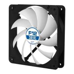 Arctic F12 Silent 12cm Case Fan, Black & White, 9 Blades, Fluid Dynamic, 6 Year Warranty