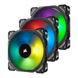 Corsair ML120 Pro 12cm PWM RGB Case Fans x3, Magnetic Levitation Bearing, 3 Pack