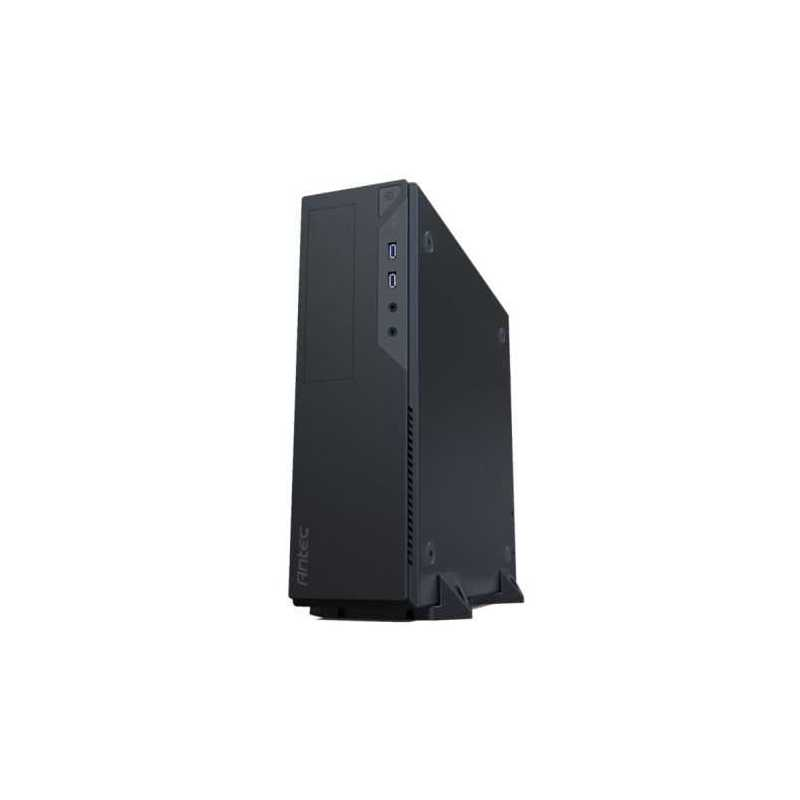 Antec VSK2000-U3 Micro ATX Slimline Desktop Case, No PSU (TFX Only), 9.2cm Fan, USB 3.0, Tool-less, Black