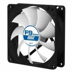 Arctic F9 9.2cm PWM PST Case Fan, Black & White, 9 Blades, Fluid Dynamic, 6 Year Warranty