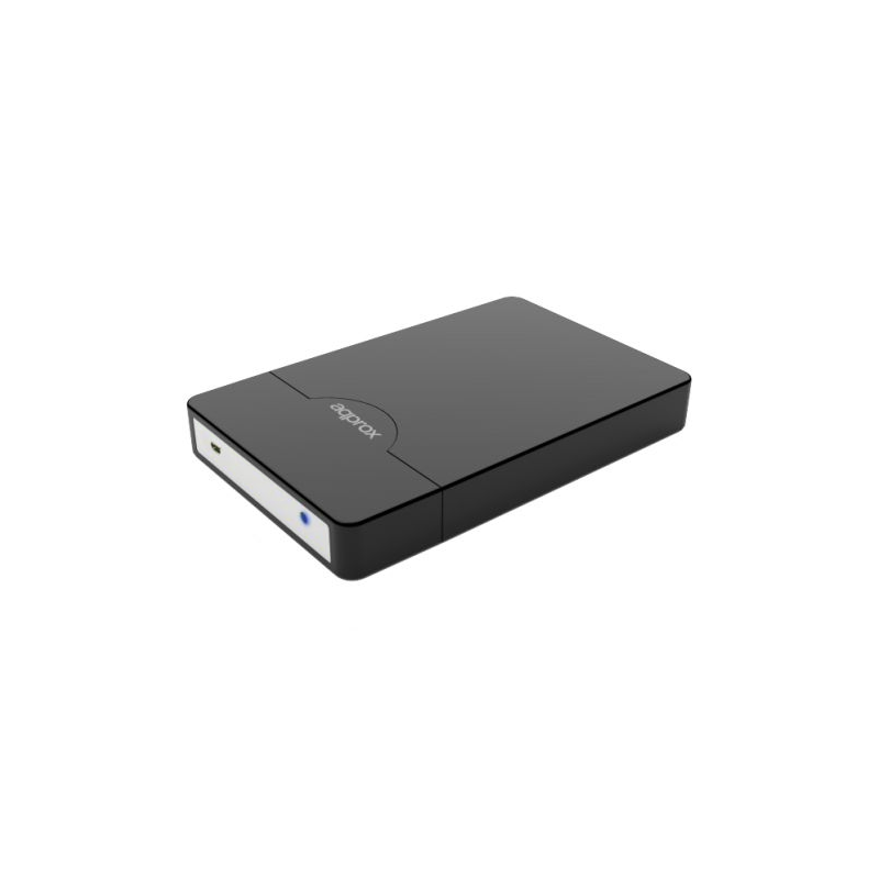 "Approx Black External 2.5"" SATA Hard Drive Caddy, USB2, USB Powered, Screwless, Carry Case"