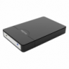 "Approx Black External 2.5"" SATA Drive Caddy, USB2, USB Powered, Screwless, Carry Case"