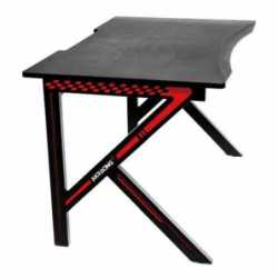 AKRacing Summit Gaming Desk, Black & Red, Steel Frame, Cable Management, Gaming Mousepad Included