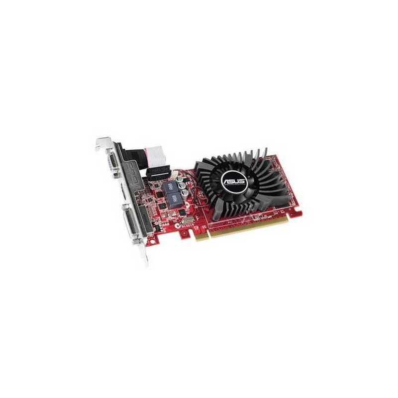 Asus Radeon R7 240, 2GB DDR3, PCIe3, VGA, DVI, HDMI, 730MHz Clock, Low  Profile (Bracket Included)