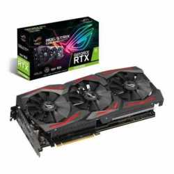 Asus ROG STRIX RTX2060 SUPER Advanced, 8GB DDR6, 2 HDMI, 2 DP, USB-C, 1710MHz Clock, 0dB Tech, RGB Lighting