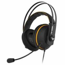 Asus TUF Gaming H7 7.1 Gaming Headset, 53mm Driver, 3.5mm Jack (USB Adapter), Boom Mic, Virtual Surround, Stainless-Steel Headband, Yellow