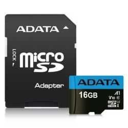 ADATA 16GB Premier Micro SD Card with SD Adapter, UHS-I Class 10 with A1 App Performance