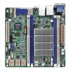 Asrock Rack C2550D4I Server Board, Integrated CPU, Mini ITX, Dual GB LAN, Serial Port, IPMI LAN