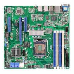 Asrock Rack E3C222D4U Server Board, Intel C222, 1150, Micro ATX, Dual GB LAN, IPMI LAN, Serial Port